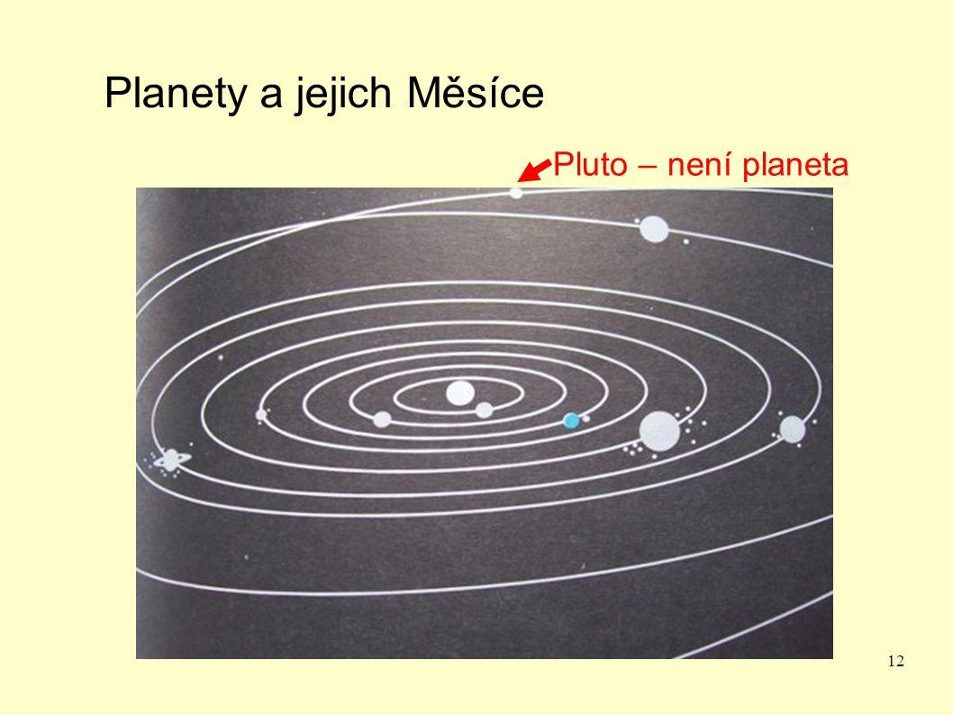 12 Planety a jejich Měsíce Pluto – není planeta