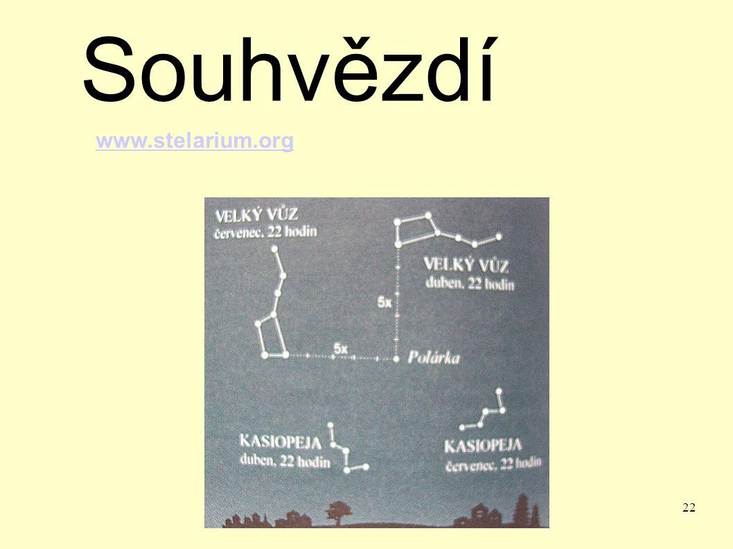 22 Souhvězdí www.stelarium.org