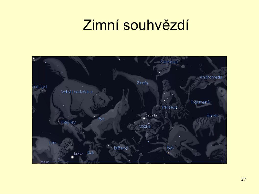 27 Zimní souhvězdí