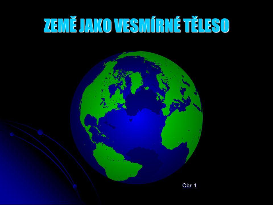 ZEMĚ JAKO VESMÍRNÉ TĚLESO Obr.2 - Země je v pořadí třetí nejbližší planetou ke Slunci.