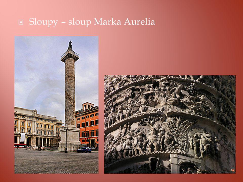  Sloupy – sloup Marka Aurelia