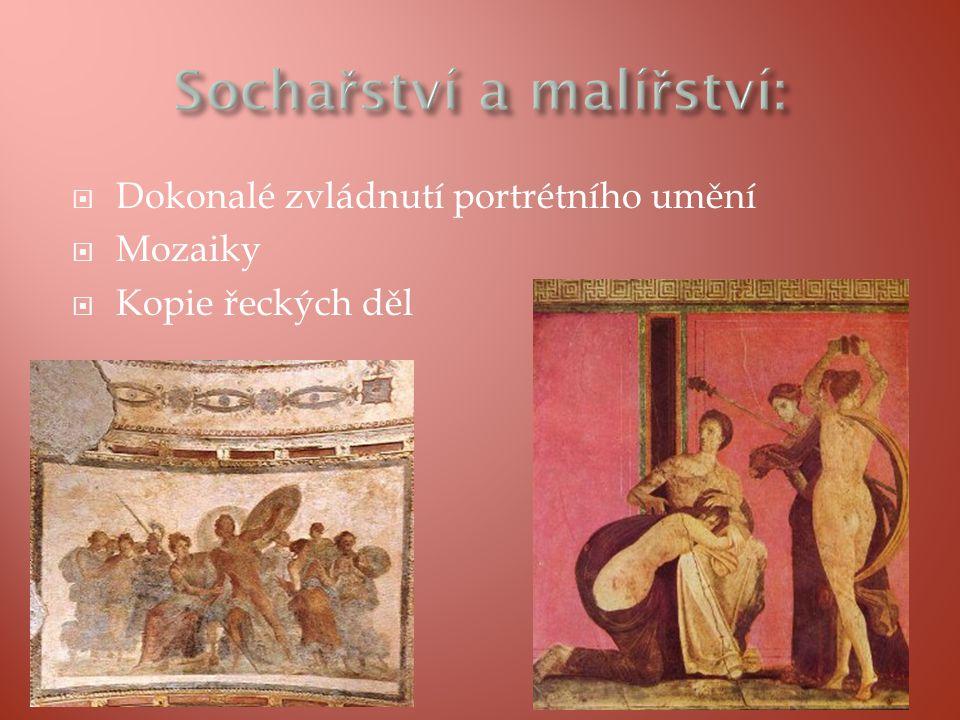  Dokonalé zvládnutí portrétního umění  Mozaiky  Kopie řeckých děl