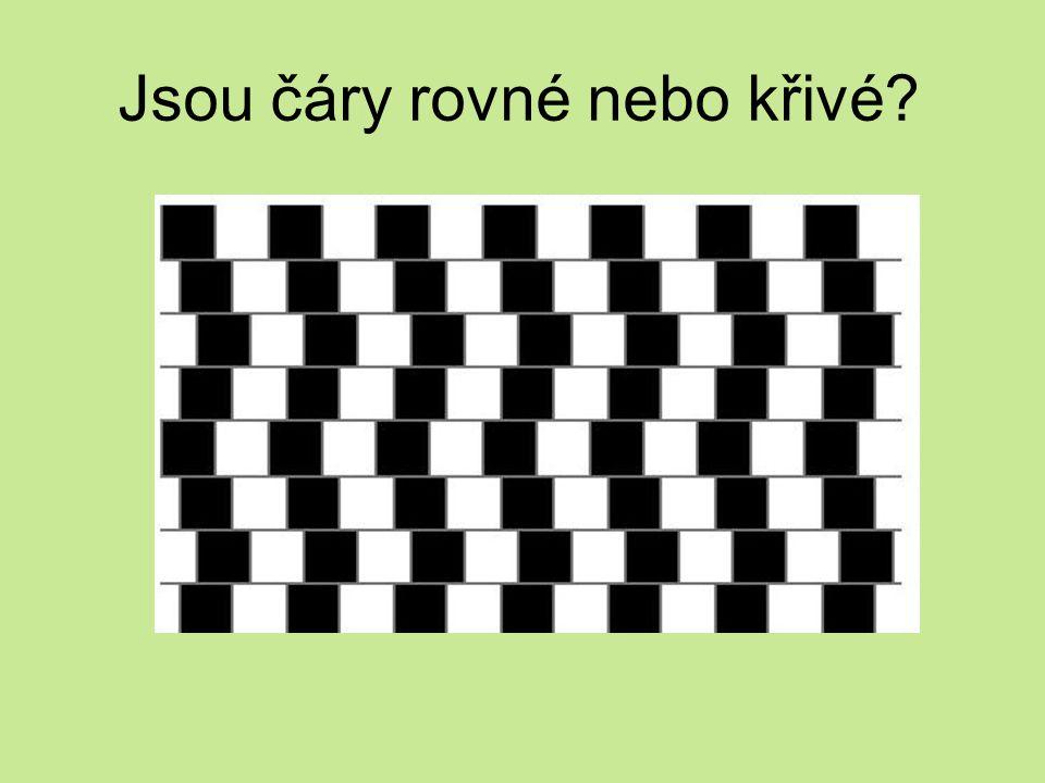Jsou čáry rovné nebo křivé?