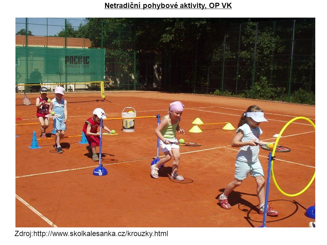 Zdroj:http://www.skolkalesanka.cz/krouzky.html Netradiční pohybové aktivity, OP VK
