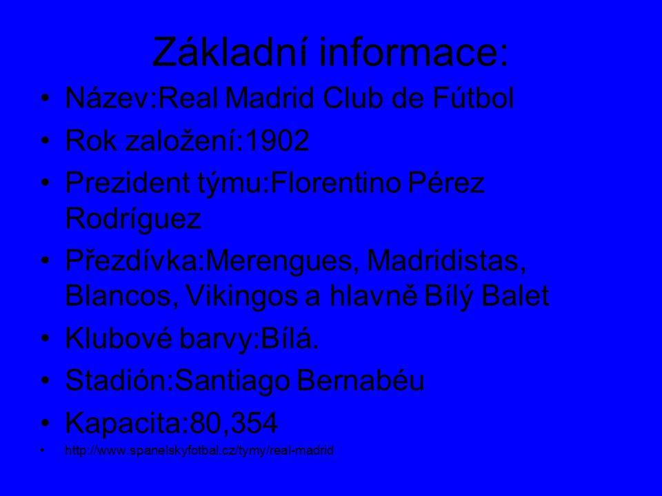 REAL MADRID Nejznámější klub ve Španělsku!