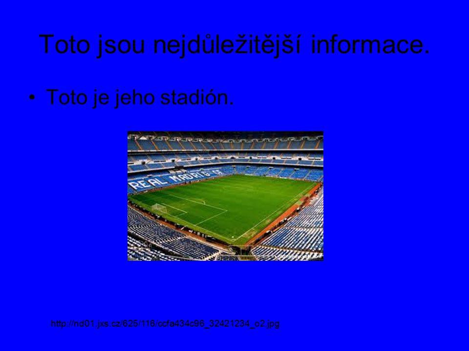 Základní informace: Název:Real Madrid Club de Fútbol Rok založení:1902 Prezident týmu:Florentino Pérez Rodríguez Přezdívka:Merengues, Madridistas, Blancos, Vikingos a hlavně Bílý Balet Klubové barvy:Bílá.