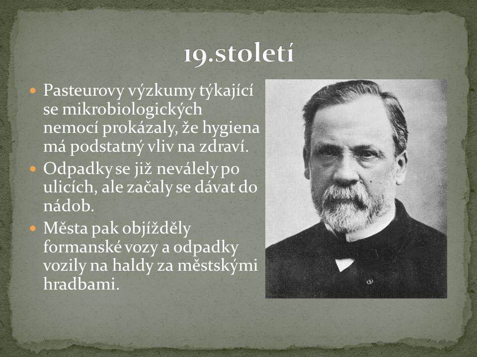 Pasteurovy výzkumy týkající se mikrobiologických nemocí prokázaly, že hygiena má podstatný vliv na zdraví.