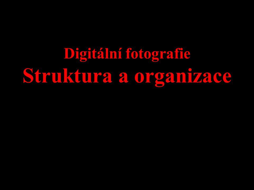 Digitální fotografie Struktura a organizace