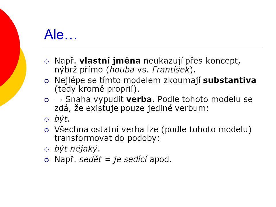 AD 2.ÚKOL: Mimojazyková skutečnost vs. jazykový systém  S tím souvisejí tzv.