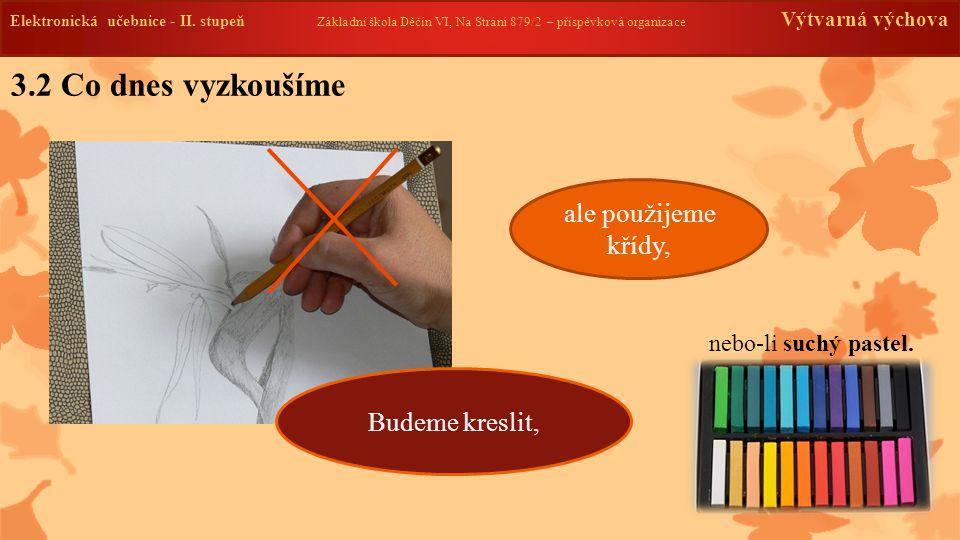 Elektronická učebnice -II. stupeň Základní škola Děčín VI, Na Stráni 879/2 – příspěvková organizace Výtvarná výchova 3.2 Co dnes vyzkoušíme Elektronic