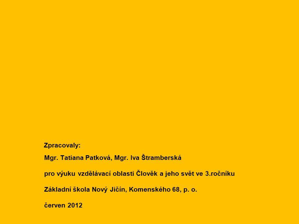 Zpracovaly: Mgr.Tatiana Patková, Mgr.