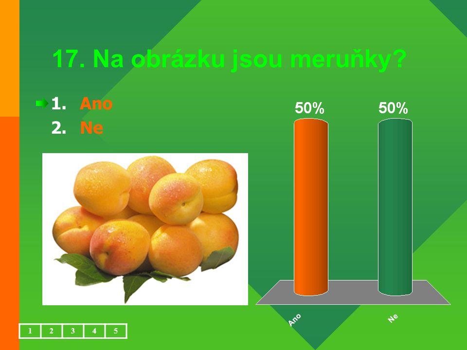 17. Na obrázku jsou meruňky? 1.Ano 2.Ne 12345