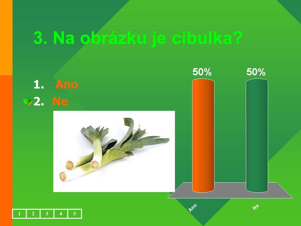 4. Na obrázku je celer? 1.Ano 2.Ne 12345