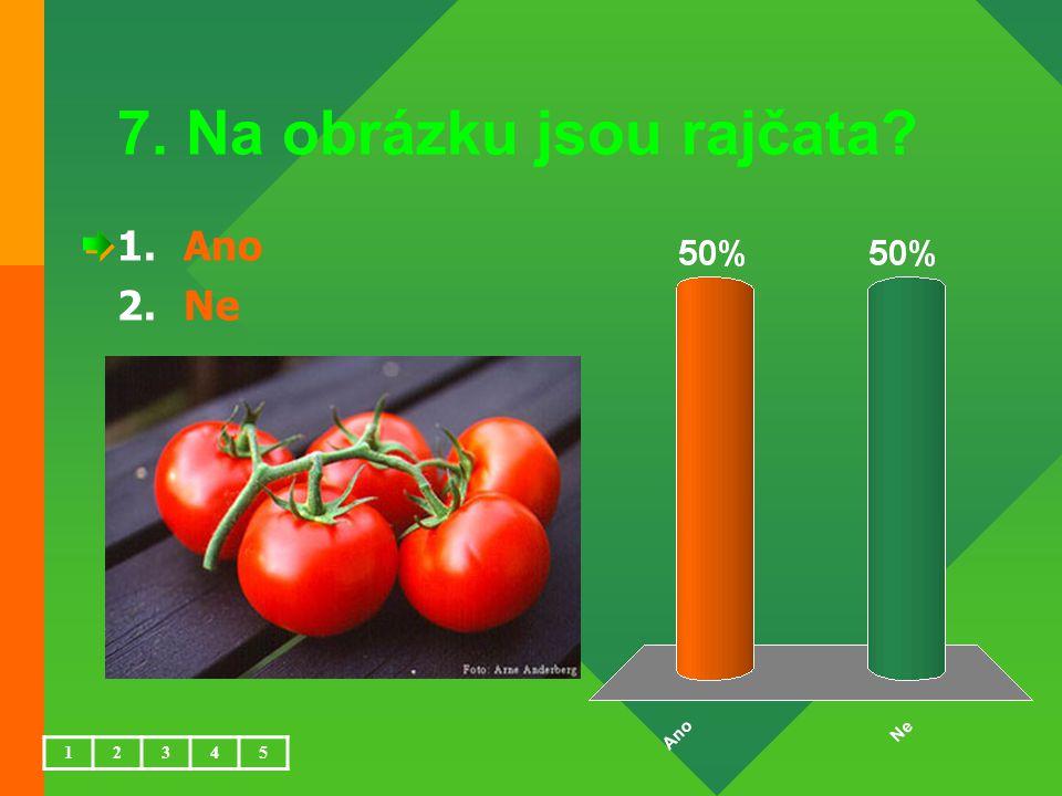 7. Na obrázku jsou rajčata? 1.Ano 2.Ne 12345