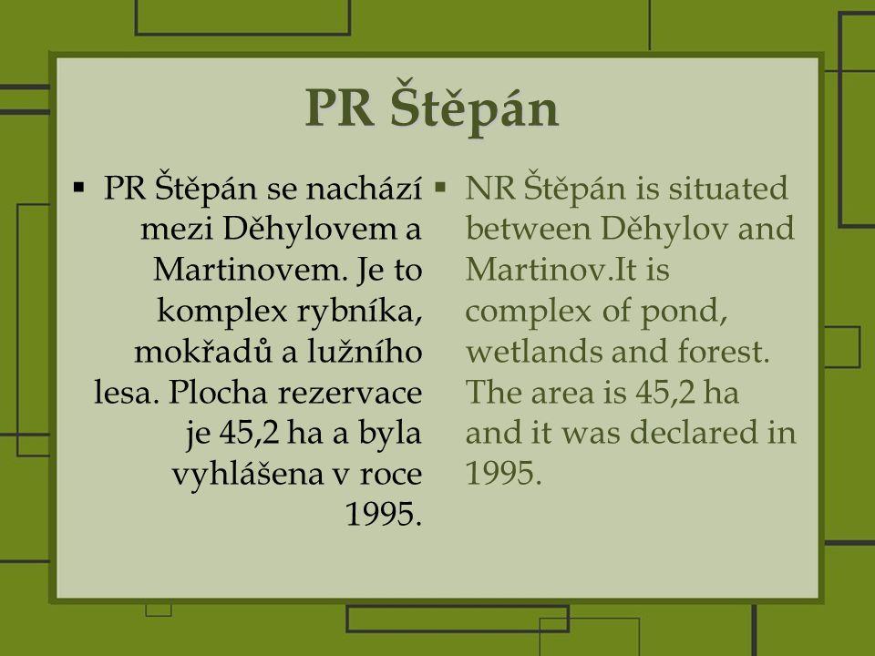 PR Štěpán  PR Štěpán se nachází mezi Děhylovem a Martinovem.