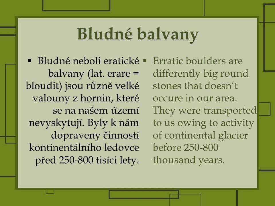 Bludné balvany  Bludné neboli eratické balvany (lat.