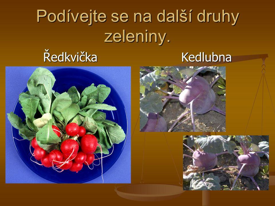 Podívejte se na další druhy zeleniny. Ředkvička Kedlubna