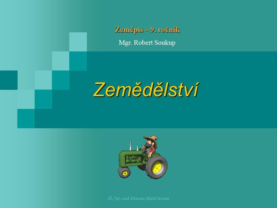 Zemědělství Zeměpis – 9. ročník Mgr. Robert Soukup ZŠ, Týn nad Vltavou, Malá Strana
