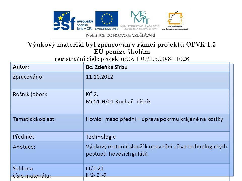 www.commons.wikimedia.cz HOVĚZÍ GULÁŠE