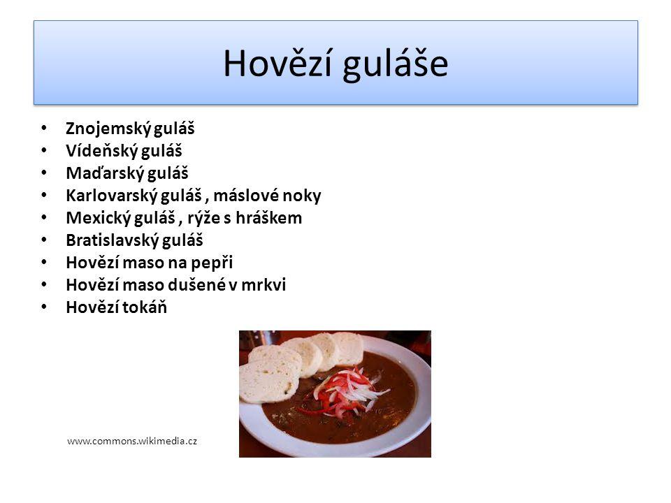 Použité zdroje www.commons wikimedia.cz Technologie příprava pokrmů II.