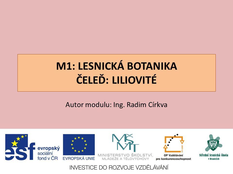 M1: LESNICKÁ BOTANIKA ČELEĎ: LILIOVITÉ Autor modulu: Ing. Radim Církva