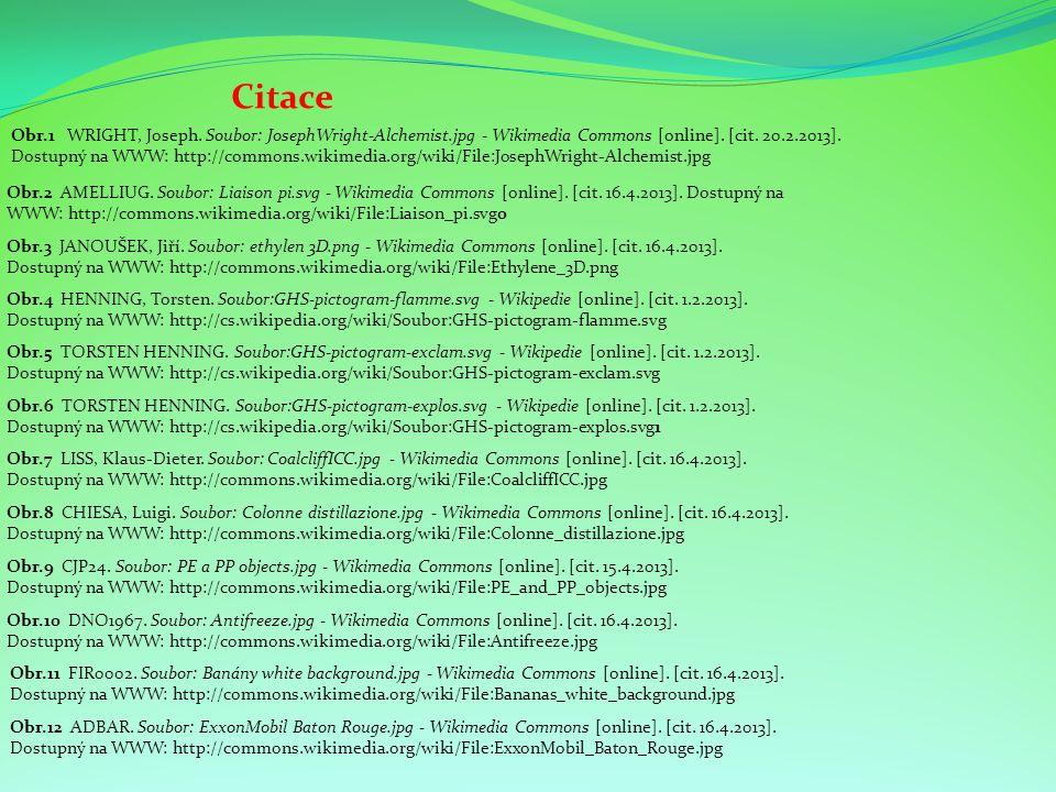 Citace Obr.3 JANOUŠEK, Jiří. Soubor: ethylen 3D.png - Wikimedia Commons [online]. [cit. 16.4.2013]. Dostupný na WWW: http://commons.wikimedia.org/wiki