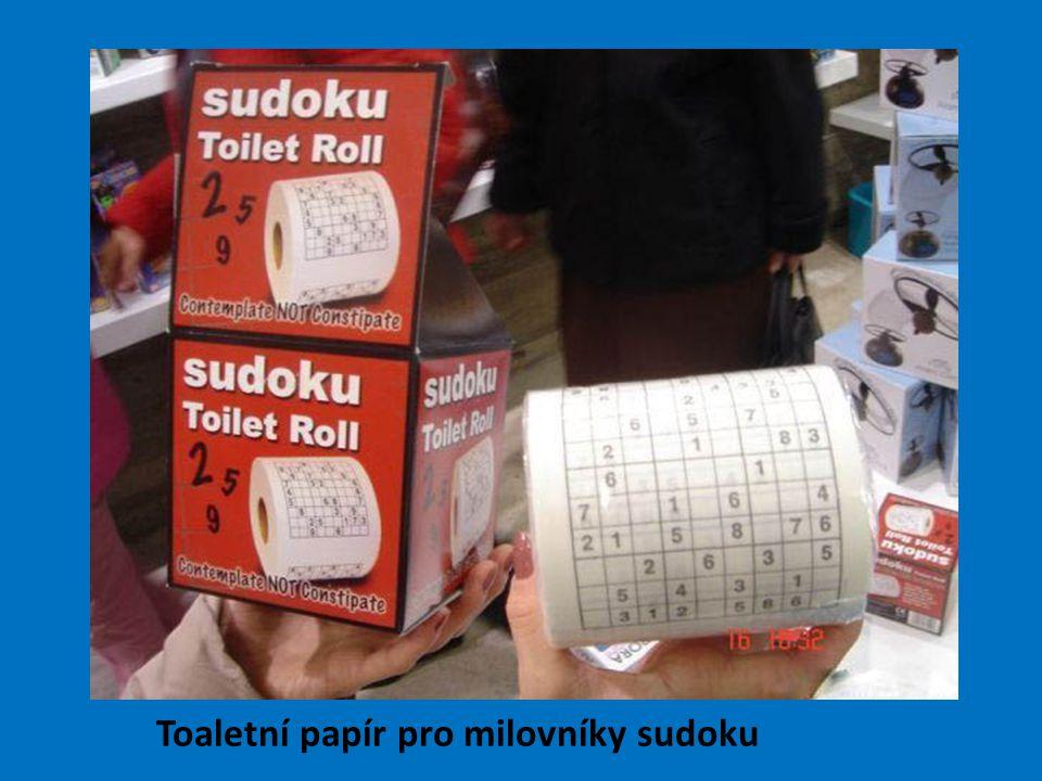 Toaletní papír pro milovníky sudoku