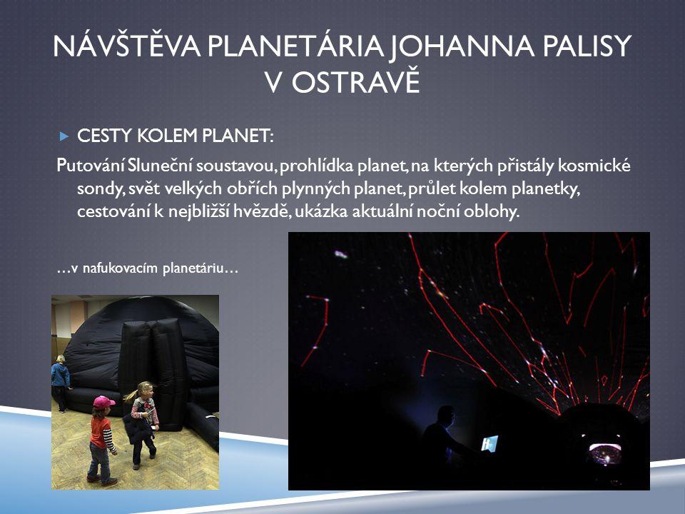 NÁVŠTĚVA PLANETÁRIA JOHANNA PALISY V OSTRAVĚ  CESTY KOLEM PLANET: Putování Sluneční soustavou, prohlídka planet, na kterých přistály kosmické sondy,
