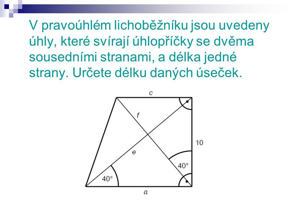 1. strana a 2. strana c 3. úhlopříčka f