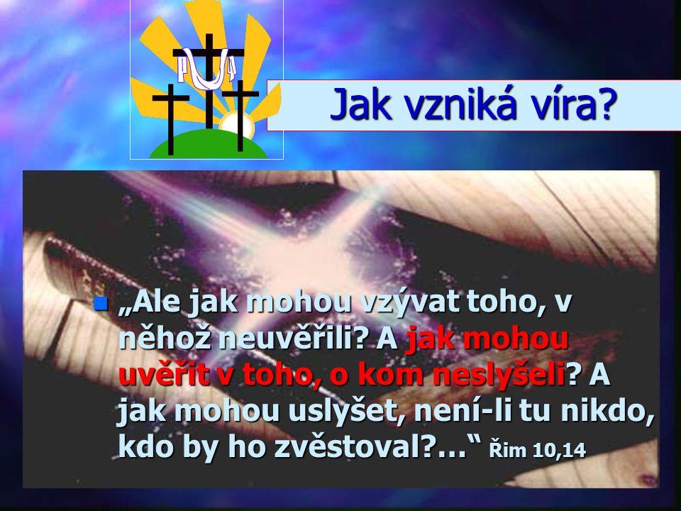 """n""""n""""n""""n""""Věřit Bohu znamená spolehnout se na to, v co doufáme, a být si jist tím, co nevidíme."""" Žid 11,1 Co je víra? Víra = spolehnutí se, důvěrné přib"""