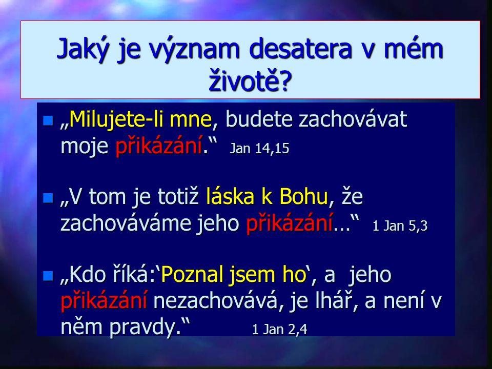 """Existuje Boží návod pro život n """"Otázal se ho: 'Která?' n Ježíš odpověděl: 'Nebudeš zabíjet, krást, křivě svědčit,…' """" n Ježíšova odpověď je jednoznač"""