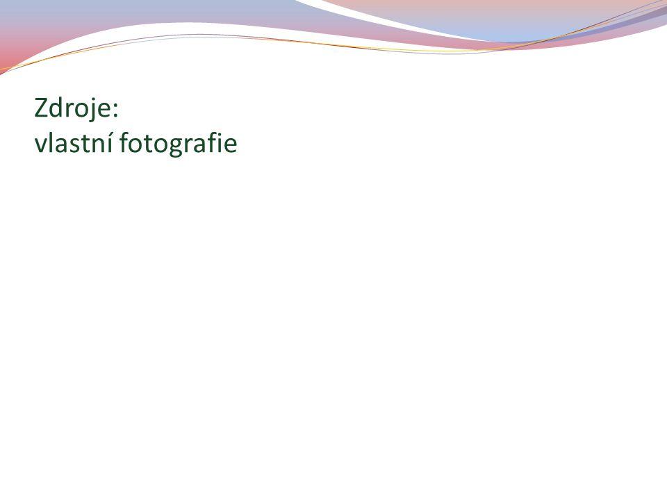 Zdroje: vlastní fotografie