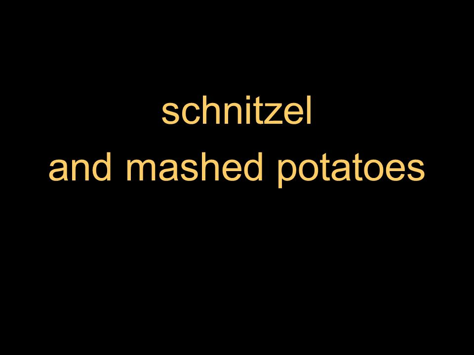 schnitzel and mashed potatoes