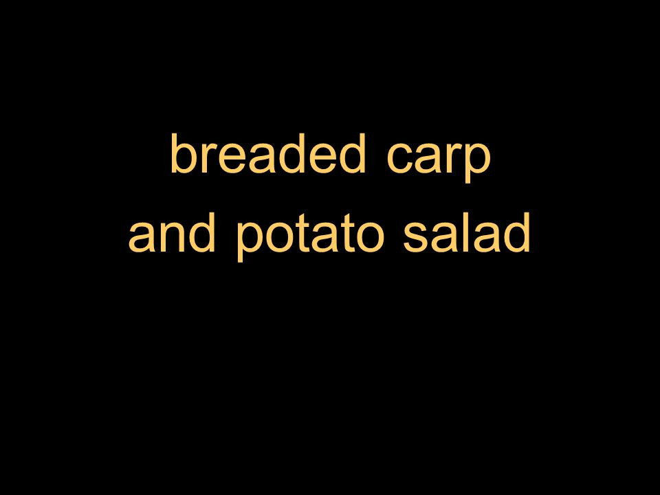breaded carp and potato salad