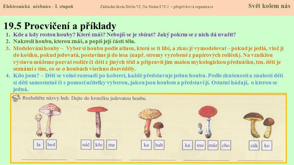 19.5 Procvičení a příklady Elektronická učebnice - I.