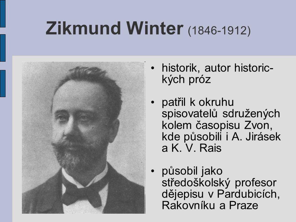 zvlášť významné bylo Wintrovo působení v Rakovníku, kde mu bylo umožněno studium archivních materiálů  z nich získal látku k četným odborným studiím z období 14.