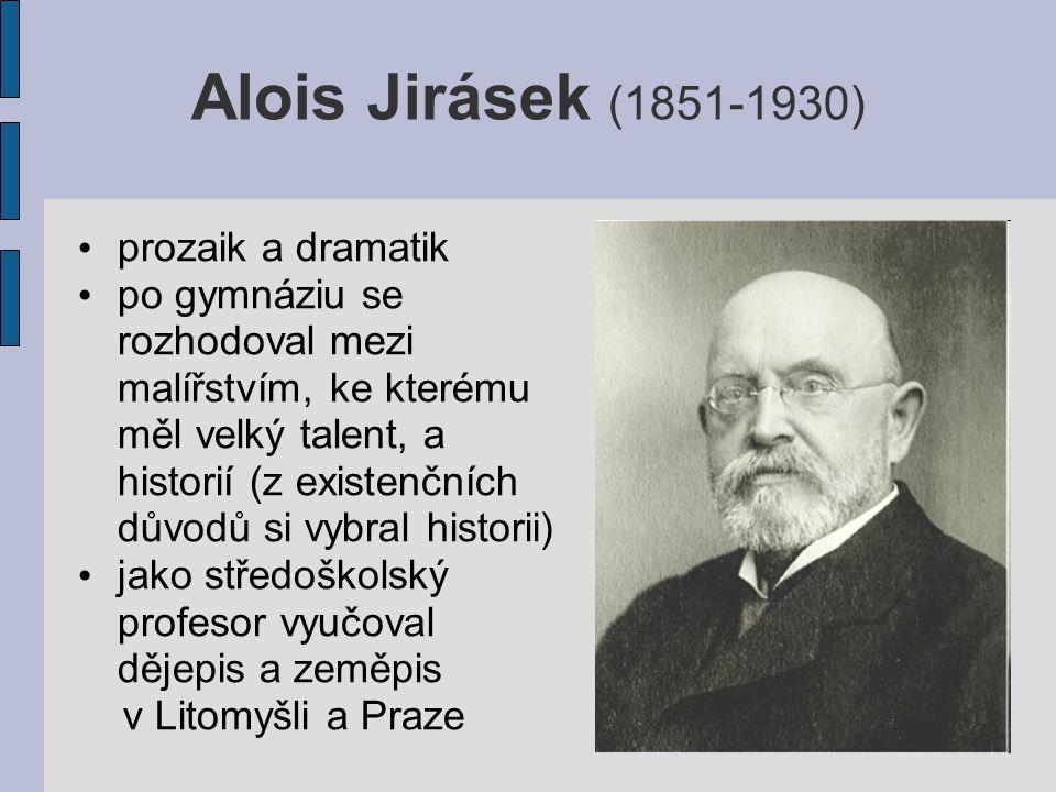 v roce 1917 Jirásek podepsal Manifest českých spisovatelů (žádající státní samostatnost) po vzniku Československa byl zvolen do Národního shromáždění v letech 1920-25 byl senátorem
