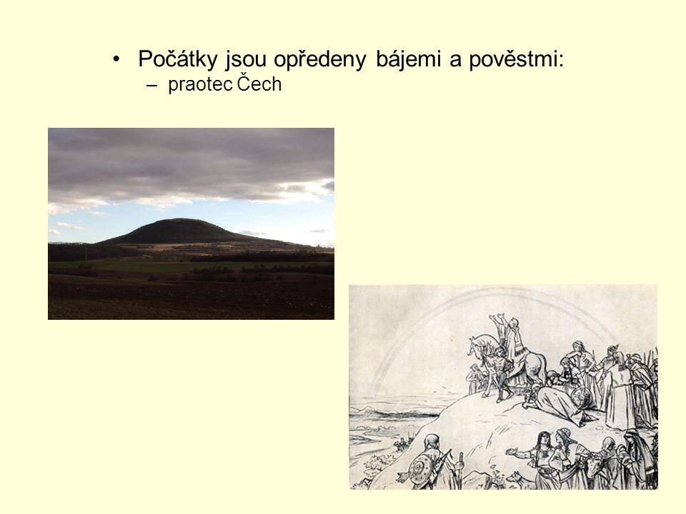 Počátky jsou opředeny bájemi a pověstmi: –praotec Čech