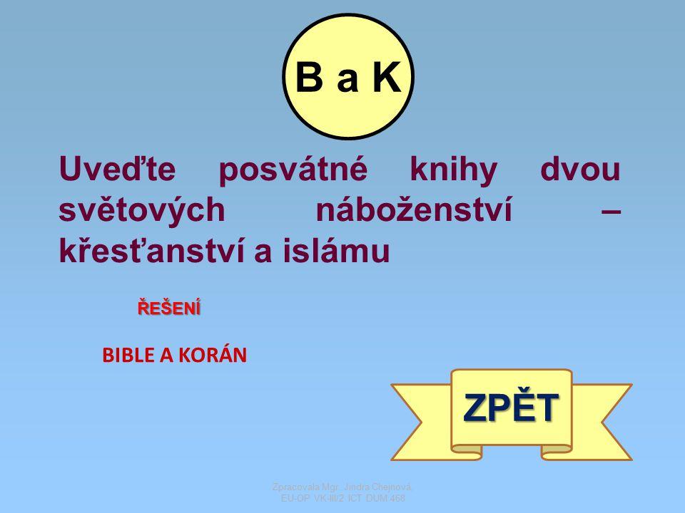 Pod písmeny S a H se skrývá slovanský jazyk a slovanské písmo ŘEŠENÍ STAROSLOVĚNŠTINA A HLAHOLICE ZPĚT S a H Zpracovala Mgr.