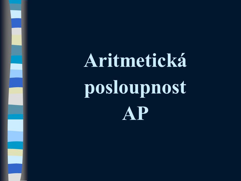 Aritmetická posloupnost AP