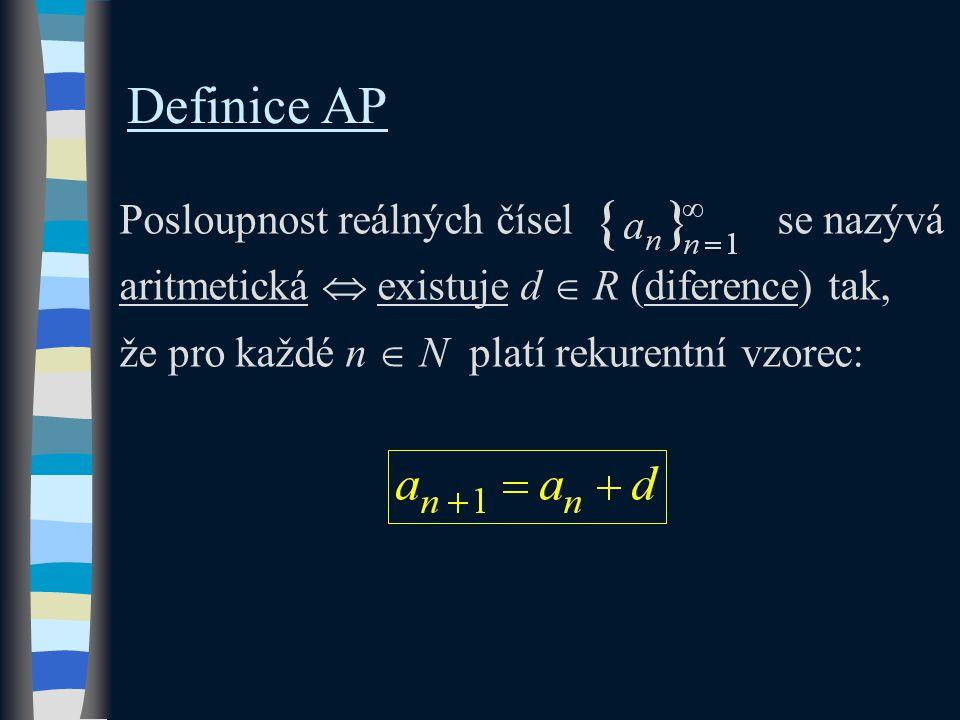 Dokažte, že je daná posloupnost aritmetická.