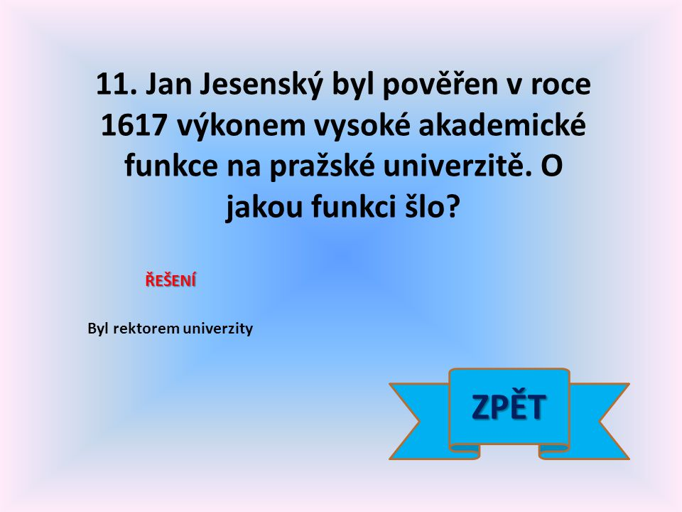 12.Jaká instituce současné ČR sídlí ve Valdštejnském paláci v Praze.