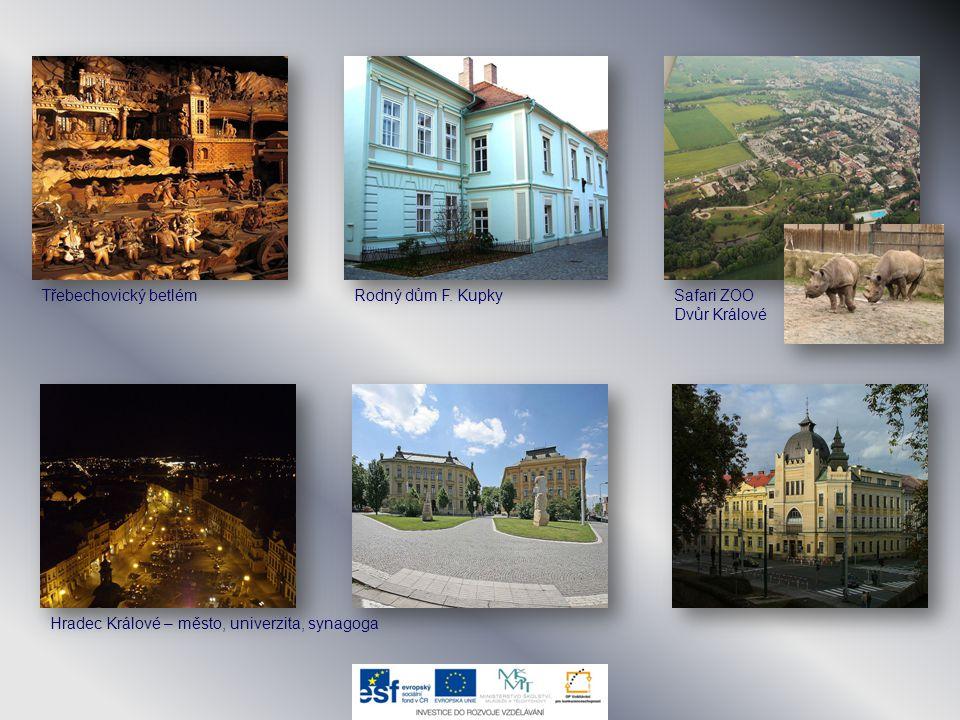 Třebechovický betlémRodný dům F. KupkySafari ZOO Dvůr Králové Hradec Králové – město, univerzita, synagoga