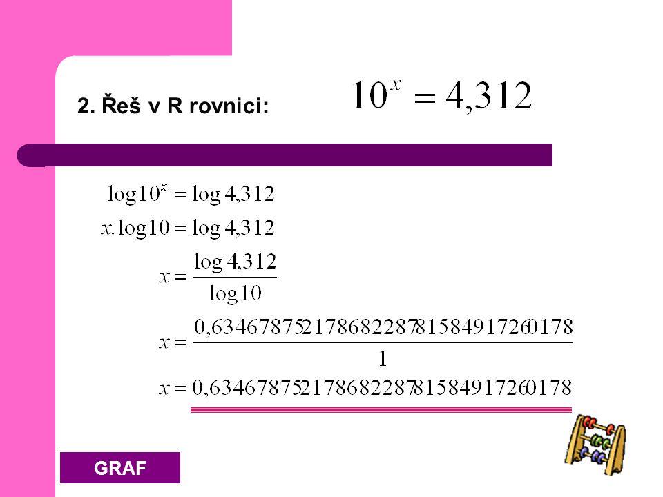2. Řeš v R rovnici: GRAF