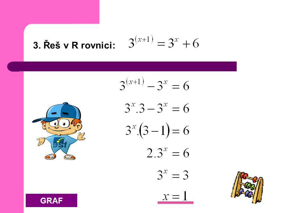 3. Řeš v R rovnici: GRAF
