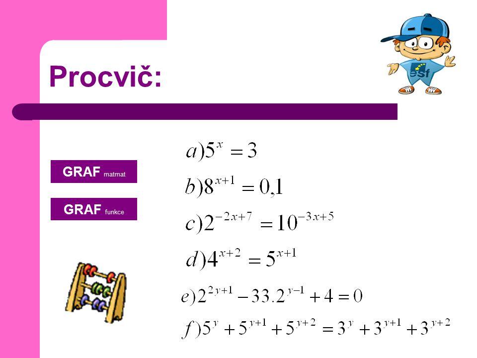 Procvič: GRAF matmat GRAF funkce