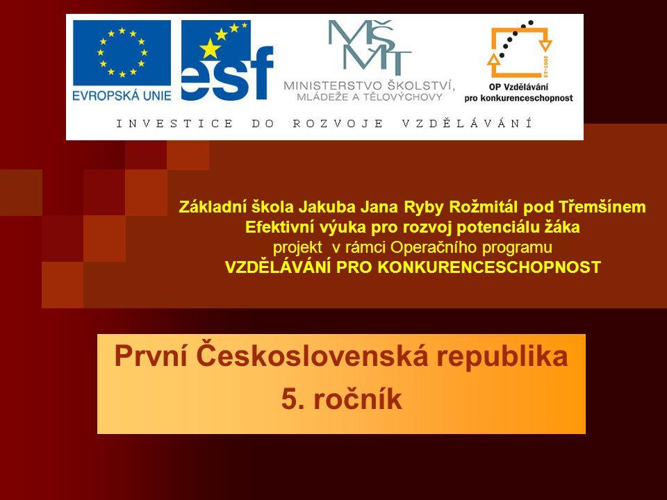 Národnostní složení ČSR Češi 52% Němci 23% Slováci 18% Ostatní menšiny 7% (Maďaři, Rusíni, Ukrajinci, Židé, Poláci)