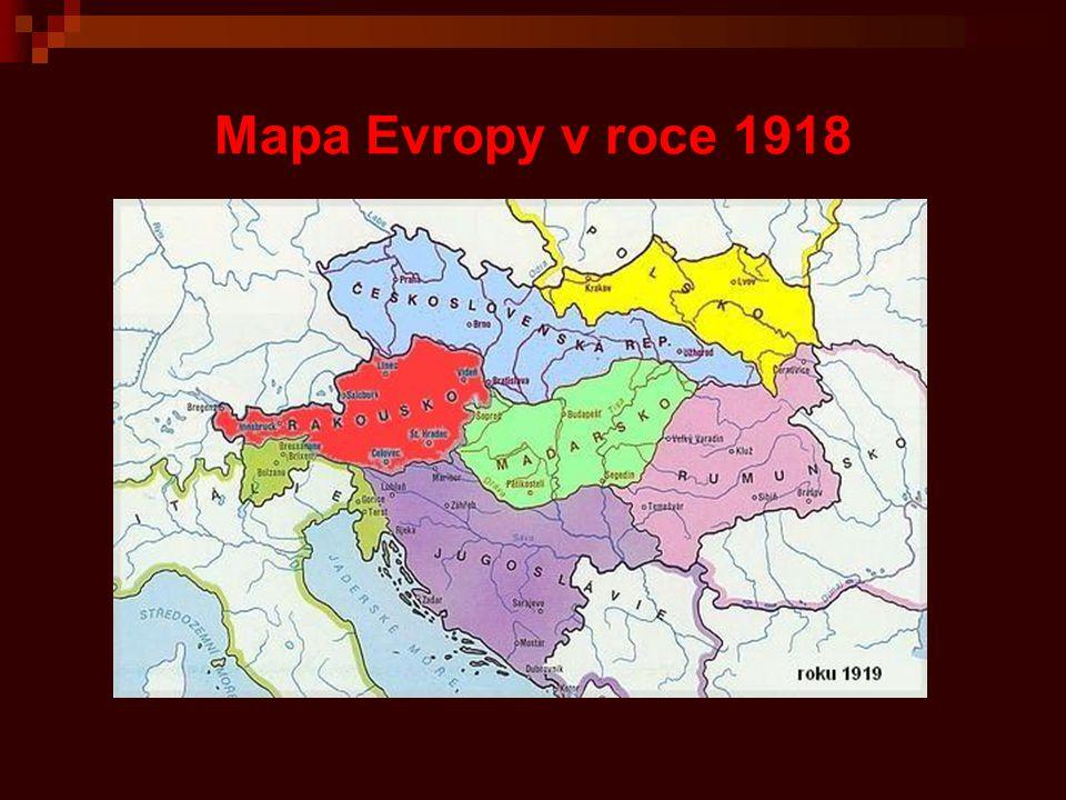 ČSR se skládala ze čtyř zemí Čechy - Praha Morava a Slezsko - Brno Slovensko - Bratislava Podkarpatská Rus - Užhorod
