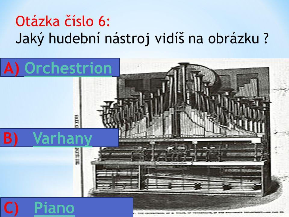 Otázka číslo 6: Jaký hudební nástroj vidíš na obrázku .