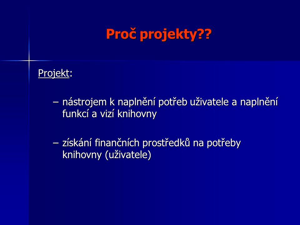 Proč projekty .
